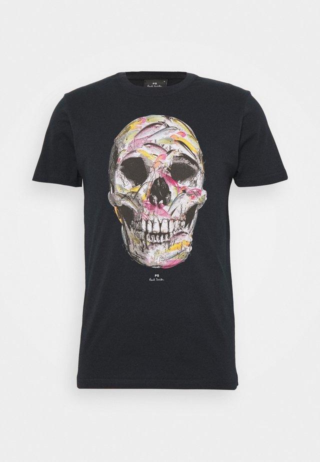 SLIM FIT SKULL - Print T-shirt - dark blue