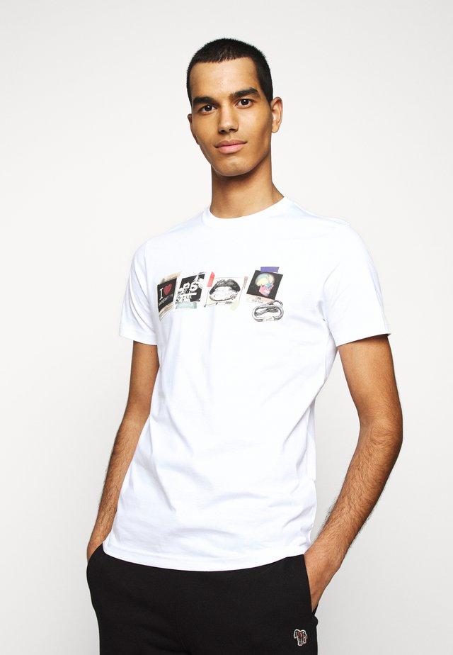 MENS SLIM FIT SASQUATCH - T-shirt print - white