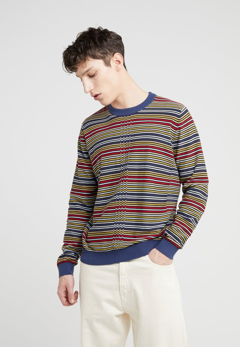 PS Paul Smith - CREW NECK - Strikkegenser - grey blue