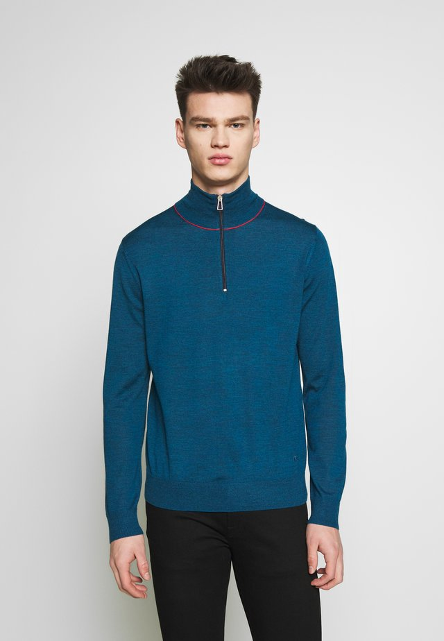 MENS ZIP NECK - Jumper - blue