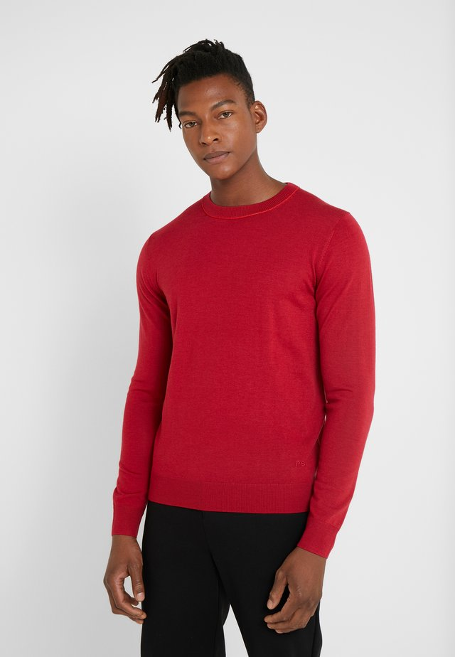 CREW NECK  - Stickad tröja - borderaux