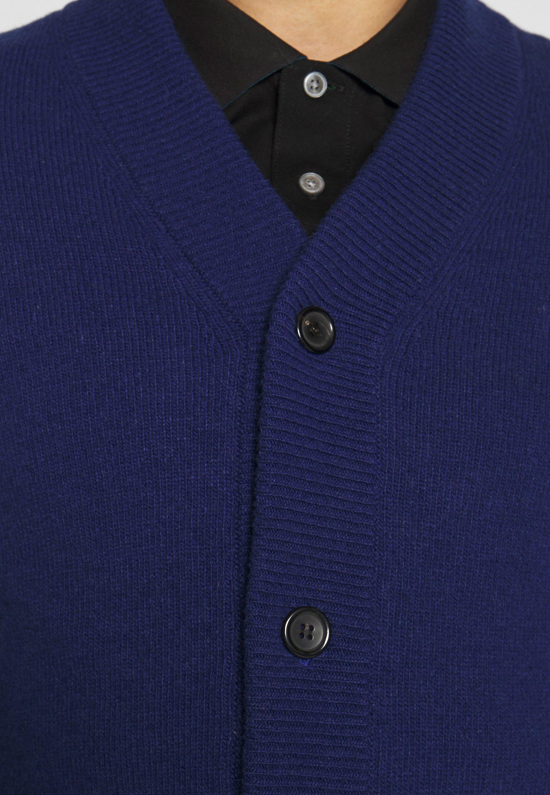 Ps Paul Smith Mens Cardigan V Neck - Kofta Dark Blue