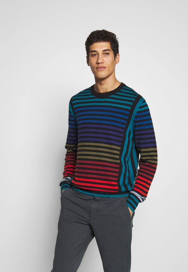 MENS CREW NECK - Stickad tröja - blue