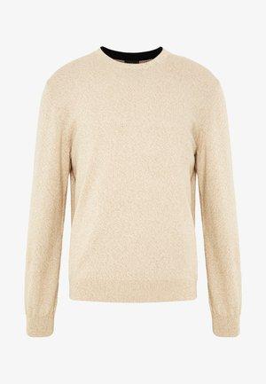 CREW NECK - Strickpullover - beige