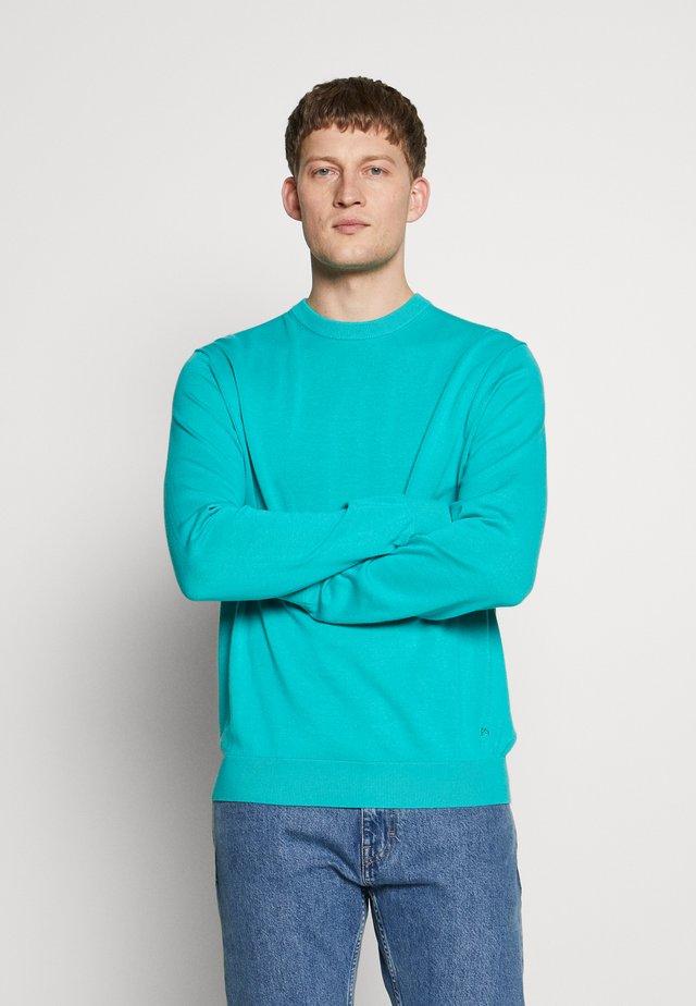 MENS CREW NECK - Koszulka polo - turquoise
