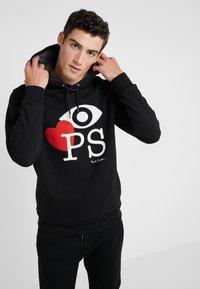 PS Paul Smith - MENS FIT HOODY EYE LOVE - Hoodie - black - 0