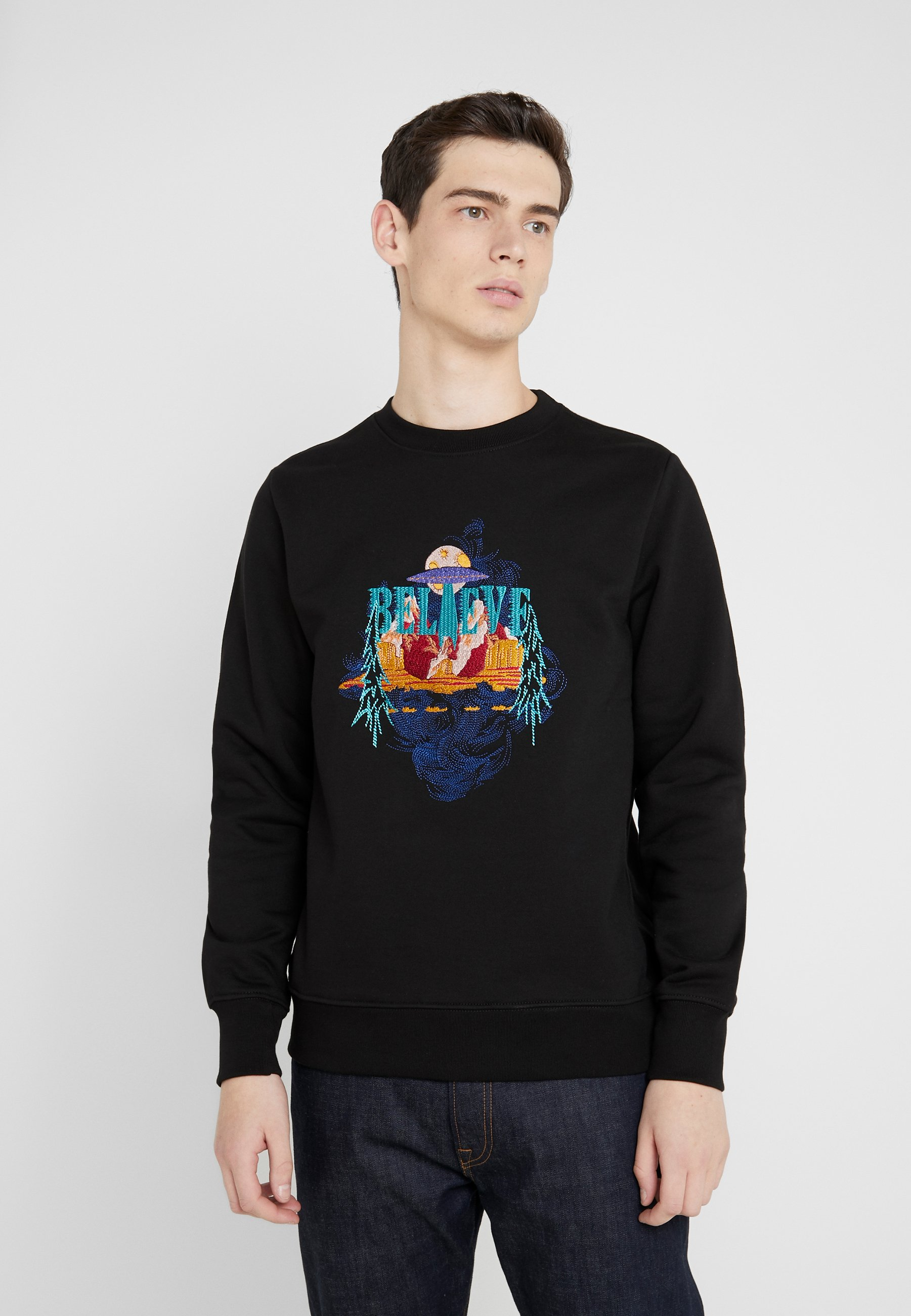 PS Paul Smith MENS EMBROIDERED - Bluza - black