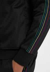 PS Paul Smith - MENS ZIP TRACK TOP - Bluza rozpinana - black - 6