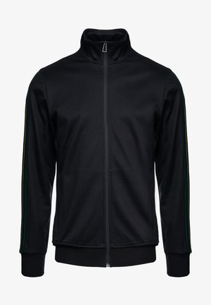 MENS ZIP TRACK TOP - Bluza rozpinana - black