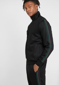 PS Paul Smith - MENS ZIP TRACK TOP - Bluza rozpinana - black - 3