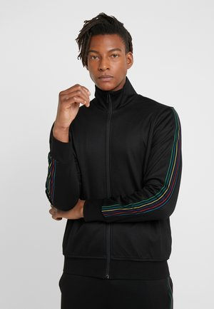 MENS ZIP TRACK TOP - Huvtröja med dragkedja - black