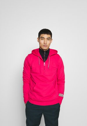 REGULAR FIT HALF ZIP HOODIE - Huppari - pink