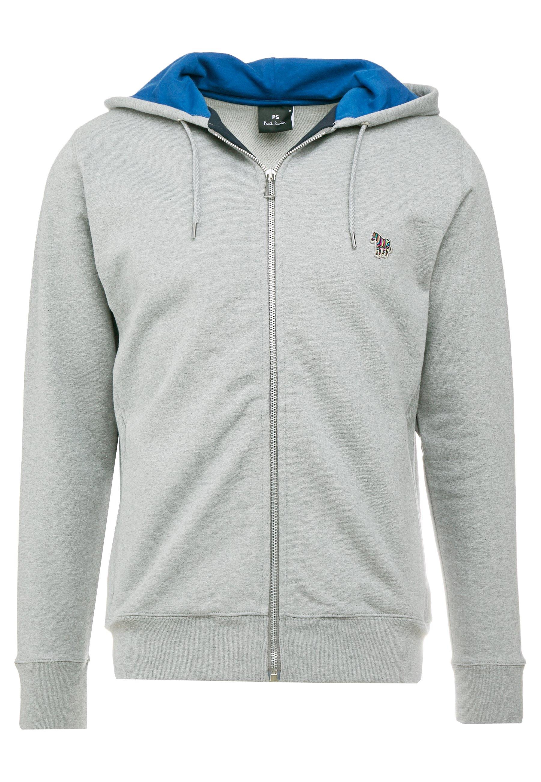 PS Paul Smith HOODED ZIP - Bluza rozpinana - grey