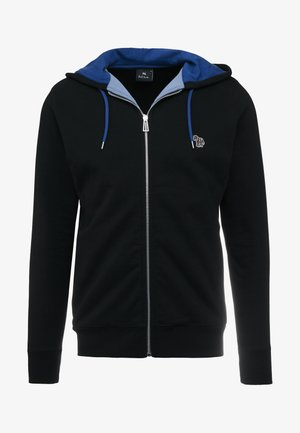 HOODED ZIP - Huvtröja med dragkedja - black