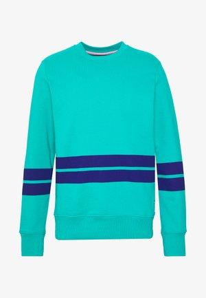 MENS FIT STRIPE - Sweatshirts - turquoise