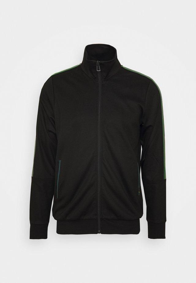 ZIP TRACK  - Zip-up hoodie - black