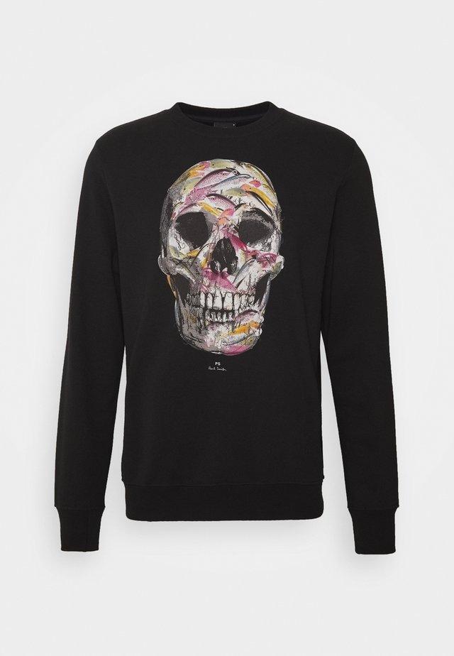 CREW SKULL PRINT - Sweatshirt - black