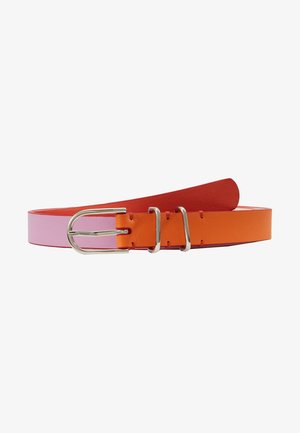 WOMEN BELT BLOCK - Belte - pink/orange