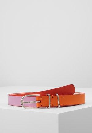 WOMEN BELT BLOCK - Vyö - pink/orange