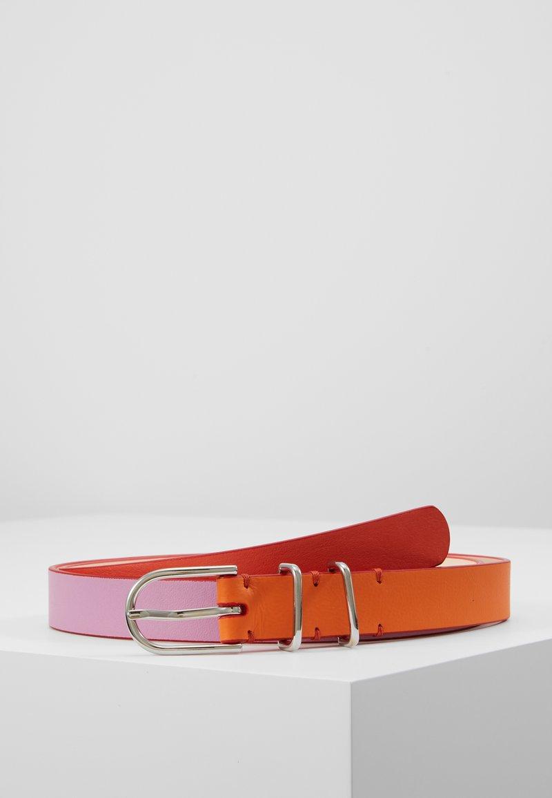 PS Paul Smith - WOMEN BELT BLOCK - Vyö - pink/orange