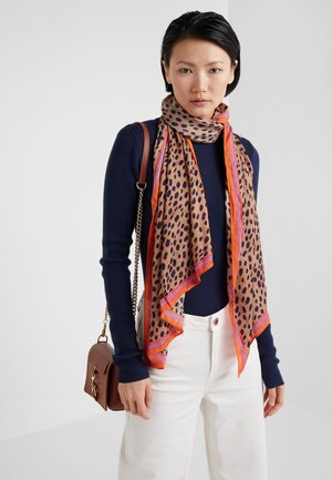 WOMEN SCARF CHEETAH SKIN - Sjal - tan