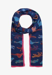 PS Paul Smith - WOMEN SCARF LIVE FASTER - Szal - navy - 1