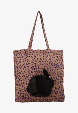 WOMEN BAG PACK RABBIT - Shopping bag - leo print/black rabbit