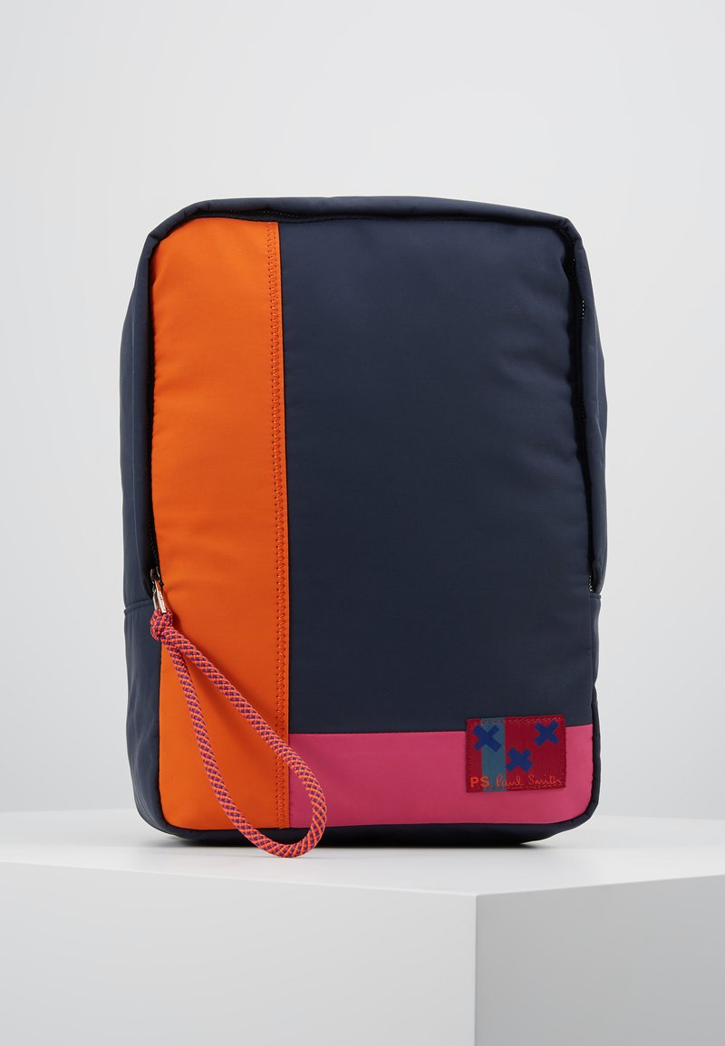 PS Paul Smith - BAG BACKPACK PATCHWORK - Reppu - navy