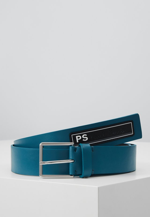 RUBBER BADGE BELT - Ceinture - navy