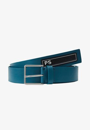 RUBBER BADGE BELT - Pasek - navy