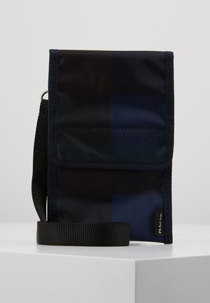 MEN WALLET POUCH CHECK - Portefeuille - navy