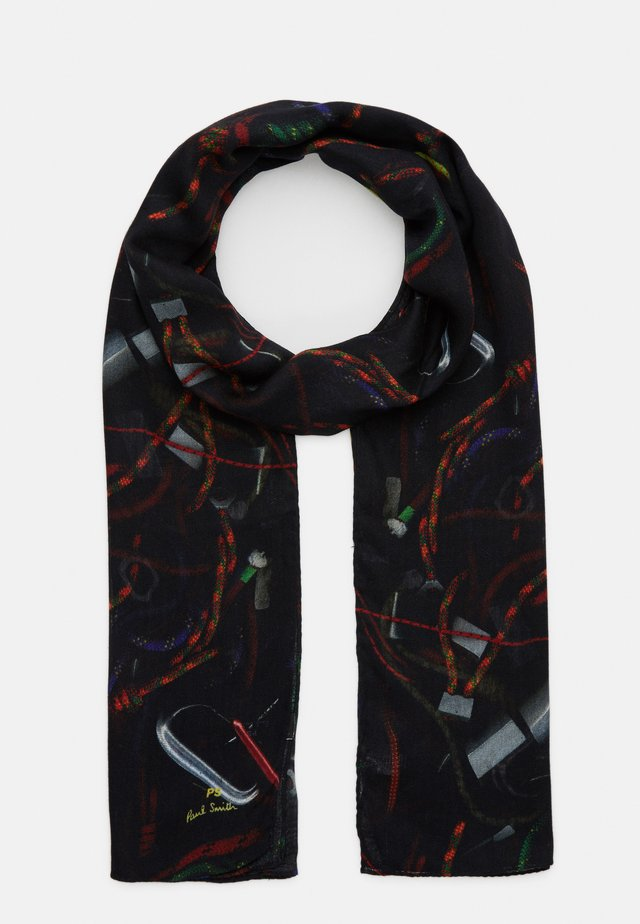 SCARF ROPE PRINT - Sjal / Tørklæder - black