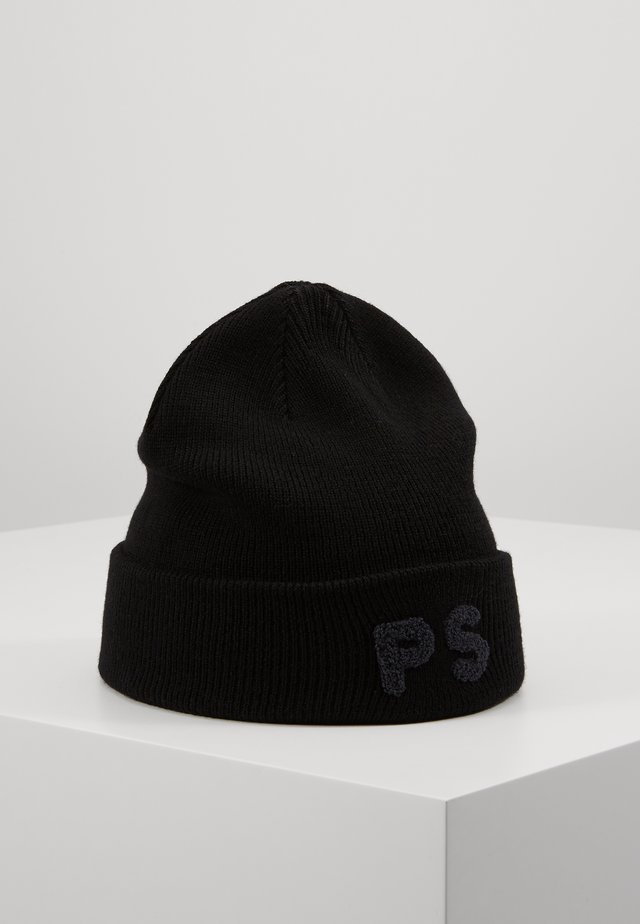 FLOCKED BEANIE - Beanie - black
