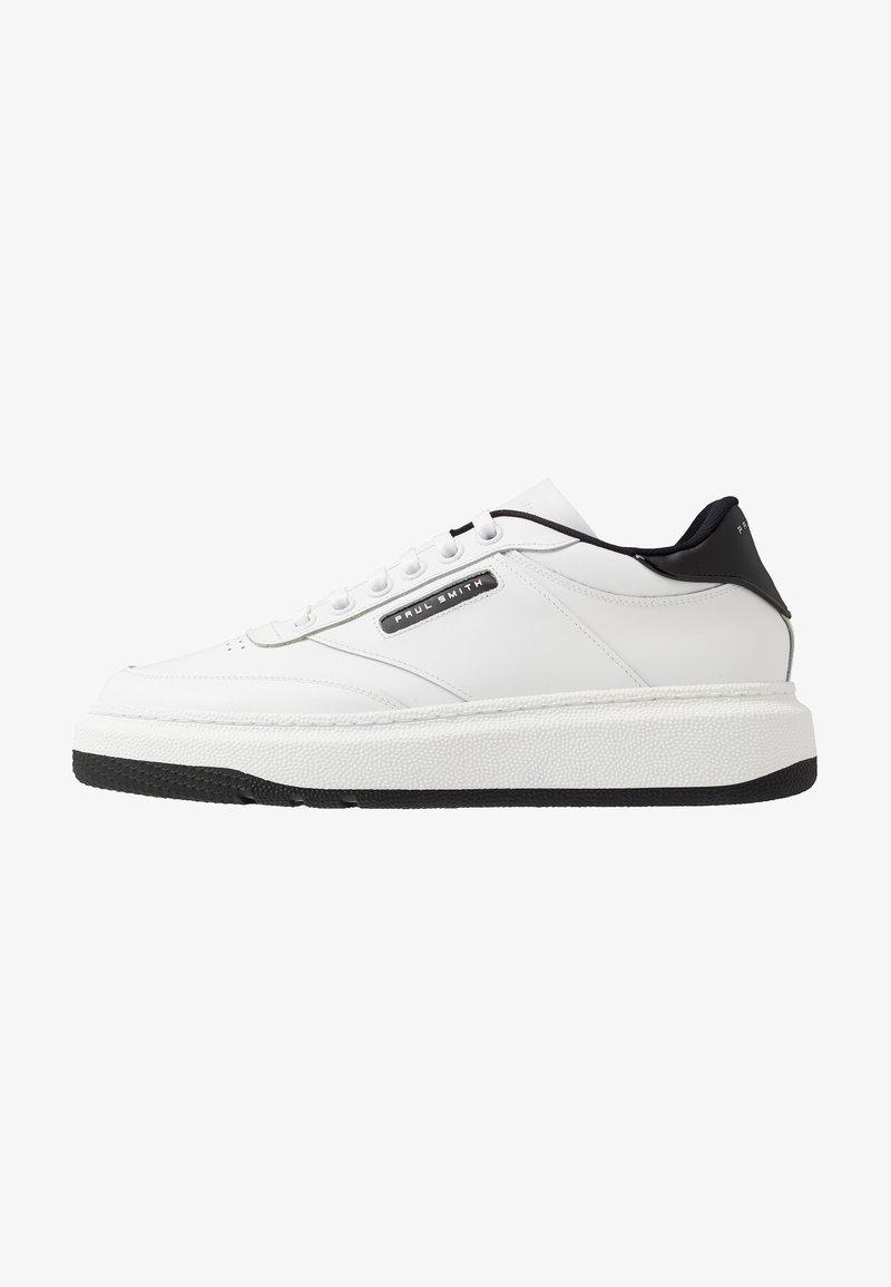 Paul Smith - HACKNEY - Baskets basses - white/black
