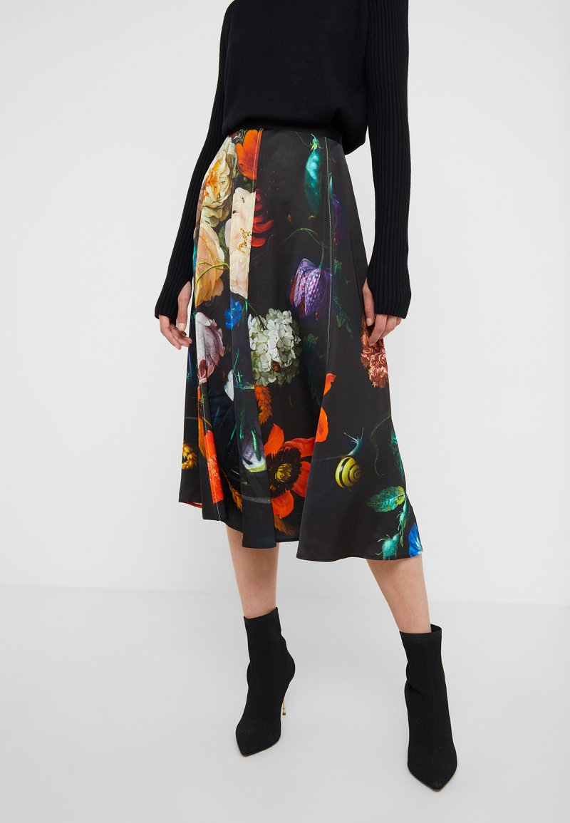 Paul Smith - A-line skirt - black/red