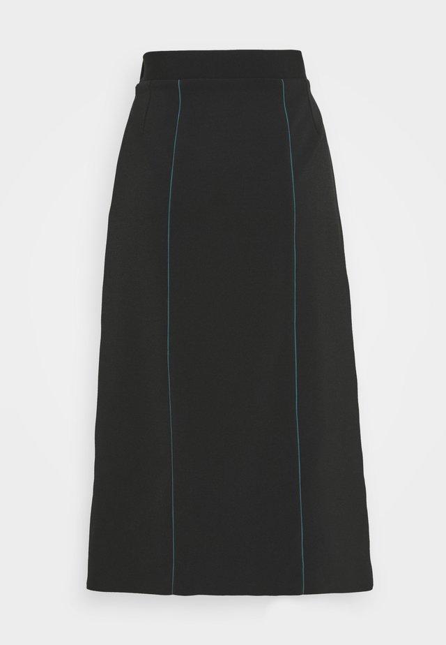WOMENS SKIRT - Spódnica trapezowa - black