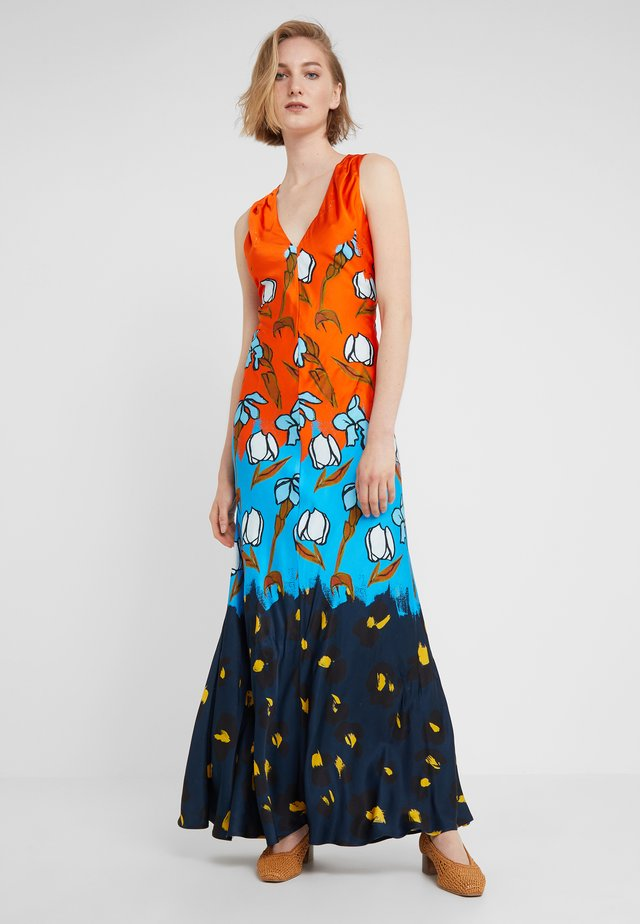 Maxi dress - orange/blue