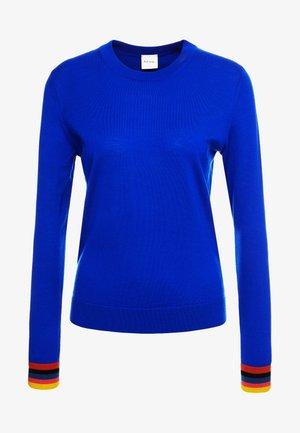 Strikkegenser - electric blue