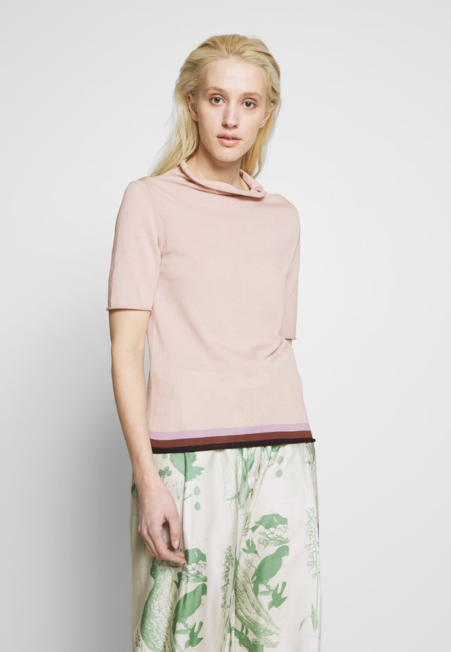T-shirts med print - nude