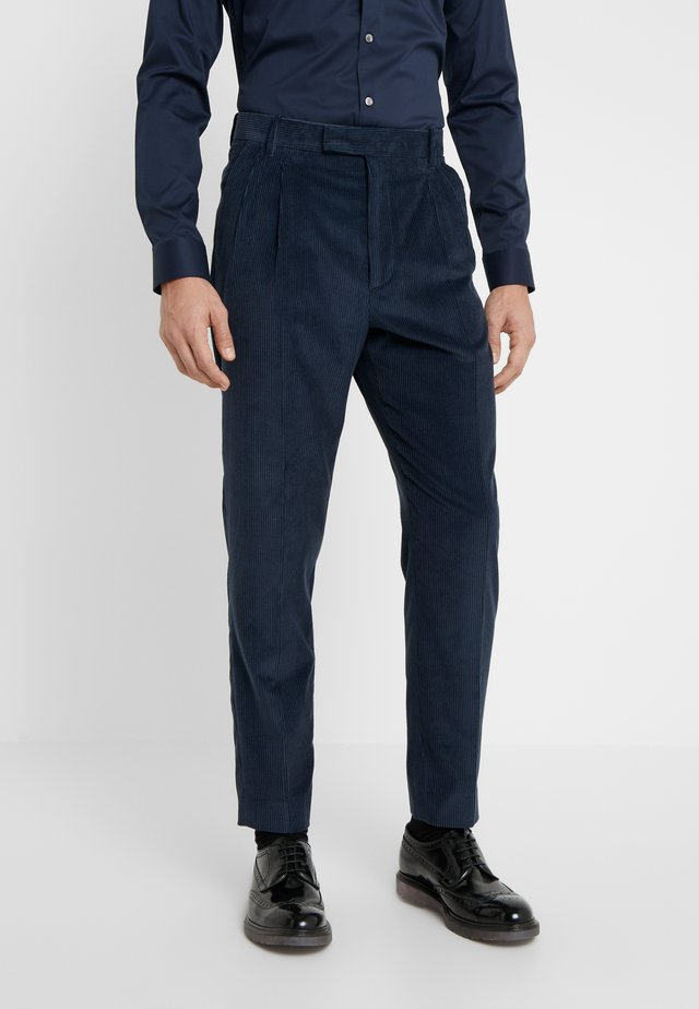 GENTS FORMAL TROUSER - Kangashousut - dark blue