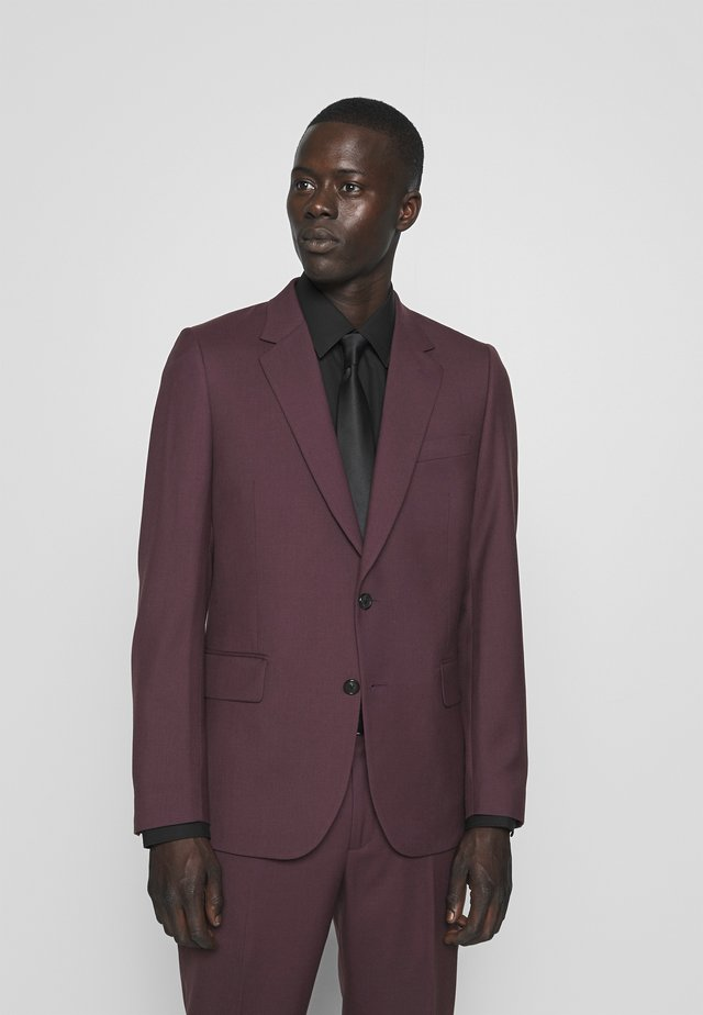 GENTS TAILORED FIT BUTTON SUIT - Dress - bordeaux