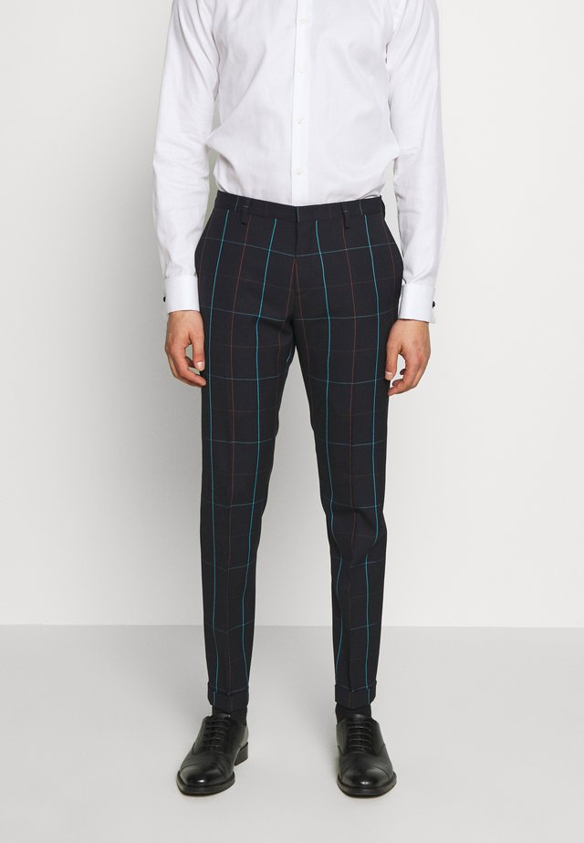 GENTS TROUSER CHECKED - Puvunhousut - dark blue