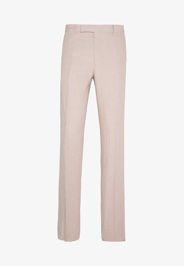 GENTS SLIM FIT TROUSER - Suit trousers - mottled pink