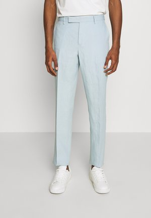 GENTS SLIM FIT TROUSER - Suit trousers - light blue