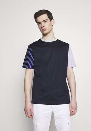 GENTS OVERSIZE STRIPED SLEEVE - T-shirt imprimé - dark blue