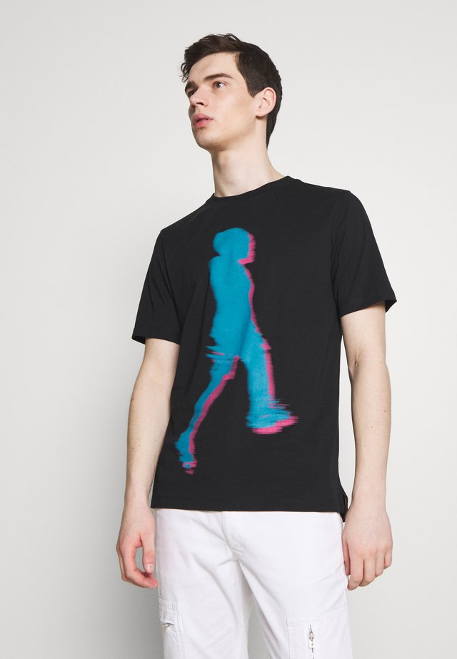 GENTS WALKER  - Print T-shirt - black