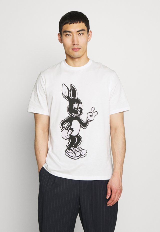GENTS OVERSIZE RABBIT - Printtipaita - white