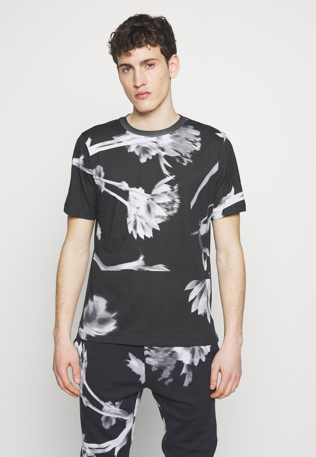GENTS FLORAL  - Print T-shirt - black