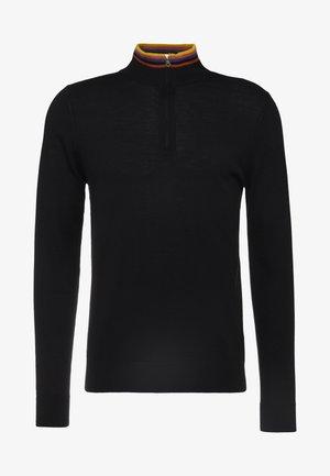 GENTS ZIP NECK - Jersey de punto - black