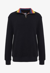 Paul Smith - GENTS ZIP COLLAR TOP - Strickpullover - black - 4
